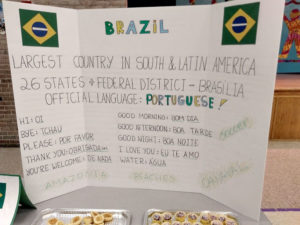 Luiza Introduces Brazil at Multicultural Night