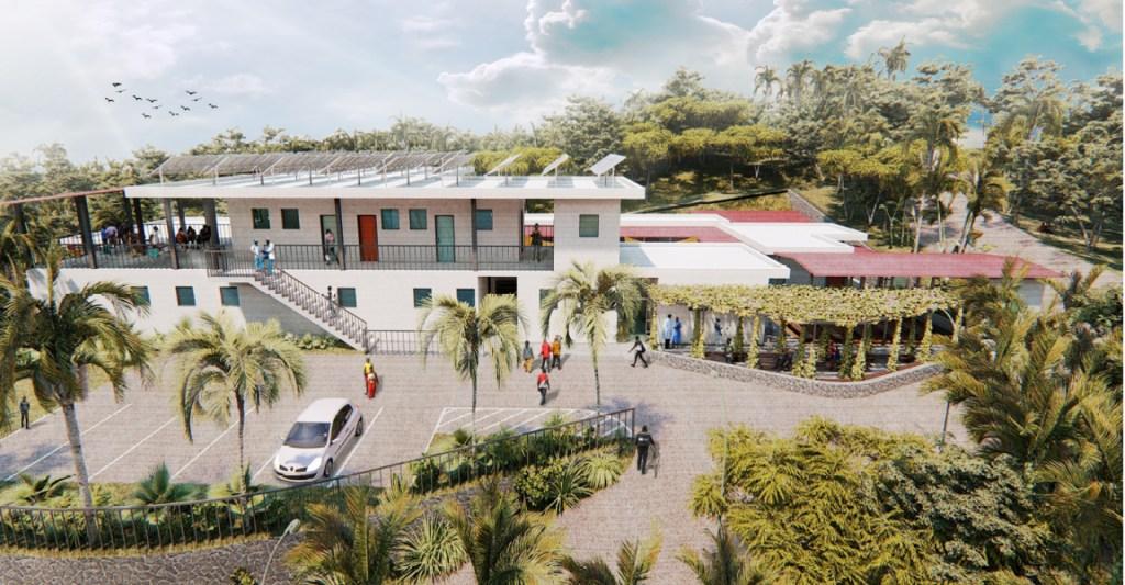 Rendering of Saint Rock Hospital in Haiti