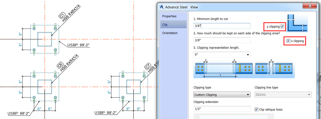 Advance Steel Tips for increasing column size on anchor bolt