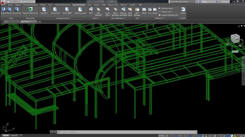 LOD 200 Revit Model in Advance Steel