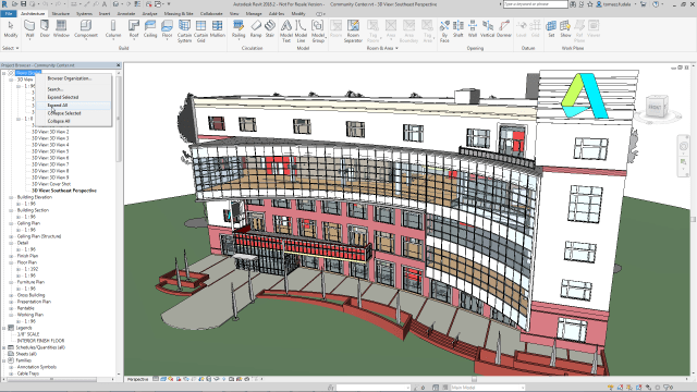 Project browser expand and collapse in Revit 2018.2 update