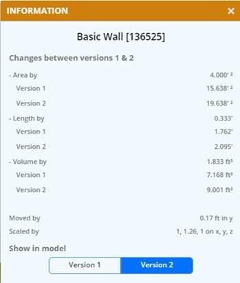 Compare Revit design versions with BIM 360 Team