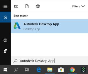 Open Autodesk Desktop App