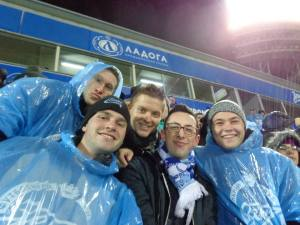 The BRIC Group at the Zenit vs. CSKA Moscow football match. Zenit won 2-0.