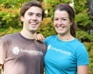 Joshua Bennett'14 with his co-founder Sarah Lockwood
