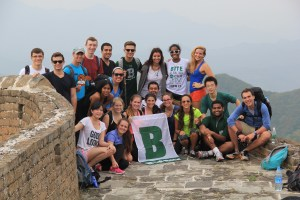 BRIC group at the top of the Great Wall