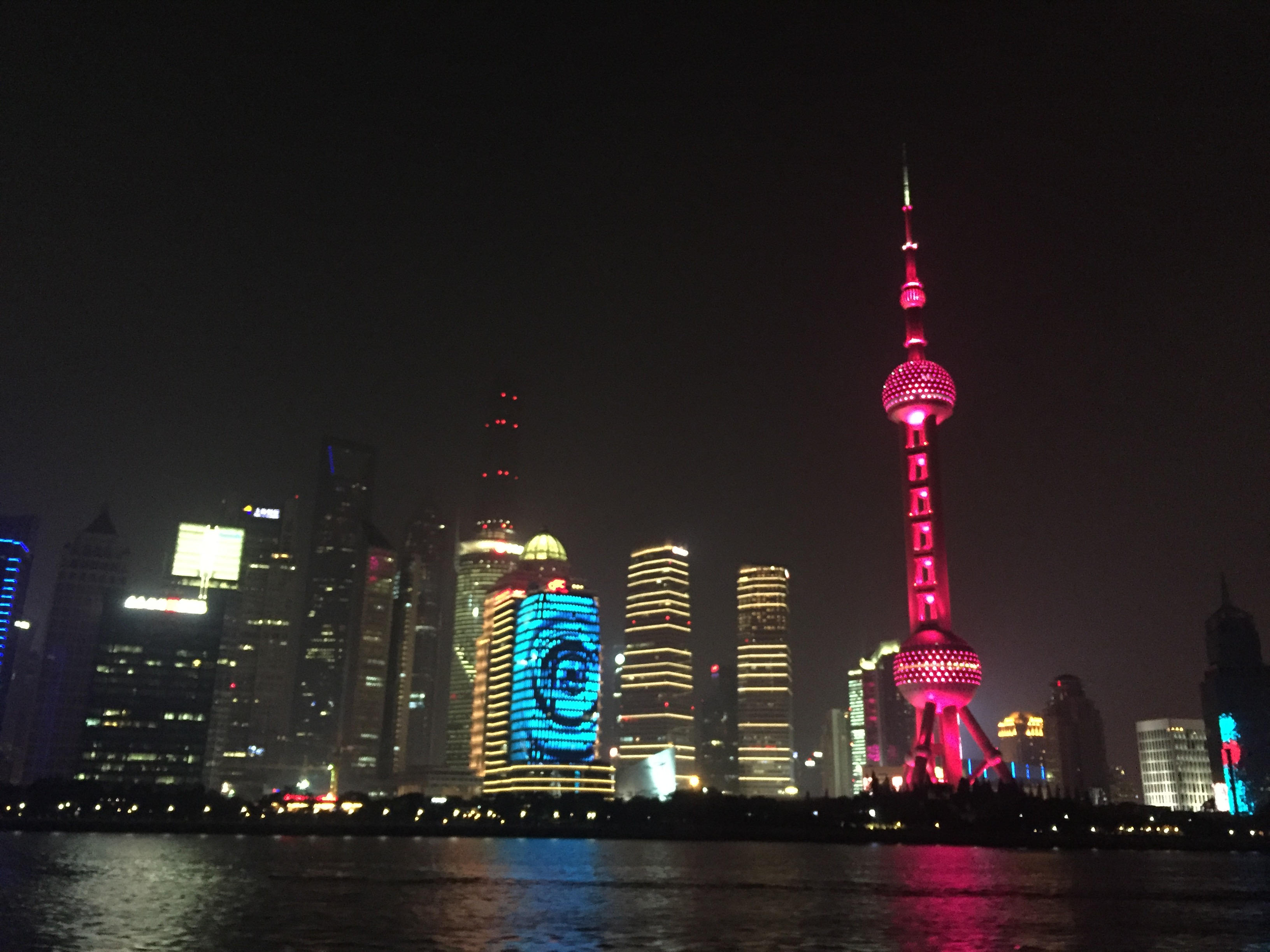 Shanghai City View from Huang Pu River Boat Cruise
