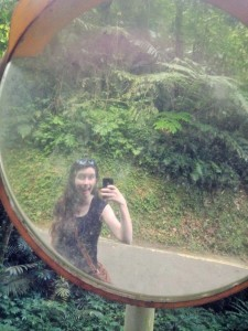 Molly in a mirror
