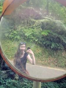 Molly in a mirror