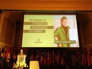 Dorothy Cann Hamilton, 2015 ADE Honoree