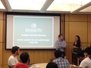 Garrett Lyons and Vanessa Theoharis at Summer Venture Program