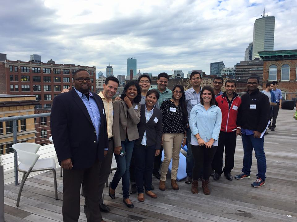 Babson MBA students on LogMeIn's award winning rooftop