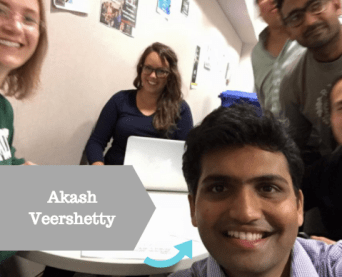 Akash with his BCAP group. (Babson Consulting Alliance Program is a semester long project and highlight of the first-year MBA curriculum.)