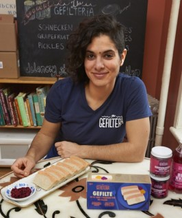 """Never was there a food that needed more of a makeover than gefilte fish,"" says Liz Alpern, who is currently pursuing an MBA in entrepreneurship. Alpern and her business partner opened The Gefilteria in 2012, and their efforts were recognized by Forbes this year. Photo by Jerry Speier."