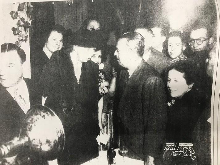 Lloyd Albin with Eleanor Roosevelt