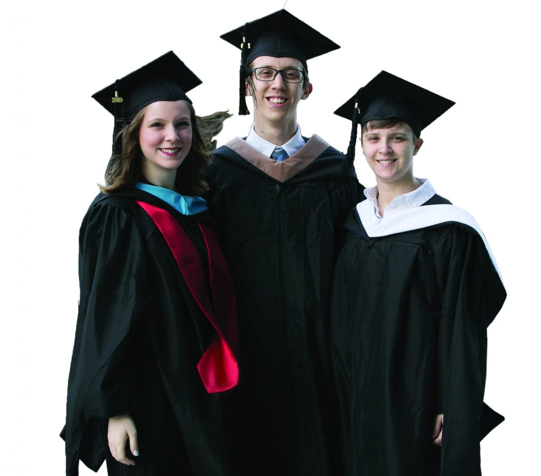 Three Baruch alumni siblings at the 2019 commencement