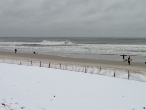 Surfing on Long Island is enjoyed during all seasons. Photo by Patrick Campbell