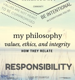 diagram my philosophy meets my ethics values and sense of integrity [ 800 x 1200 Pixel ]