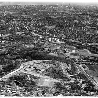 The Bentley campus before construction