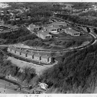 A view of the completed campus, ca. 1970