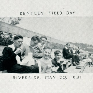 Students enjoy lunch during the 13th annual Field Day. Photo from 1931 Ben Boo yearbook scrapbook pages.