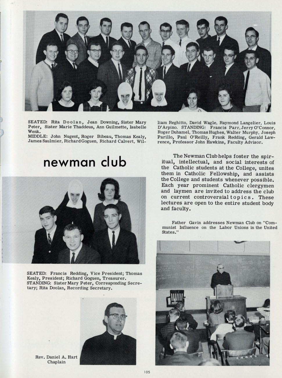 1962 - Newman Club (photo from 1964)
