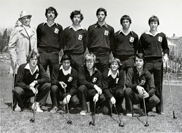 Men's Golf, 1978. Golf was one of the first team sports established at Bentley, although students had been playing recreationally since the school opened.