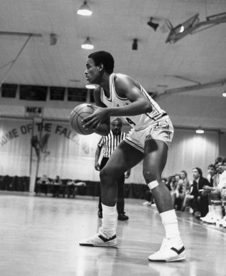 Men's Basketball, ca. 1970s. After operating as a club team for over 30 years, the men's varsity team was established in 1963.