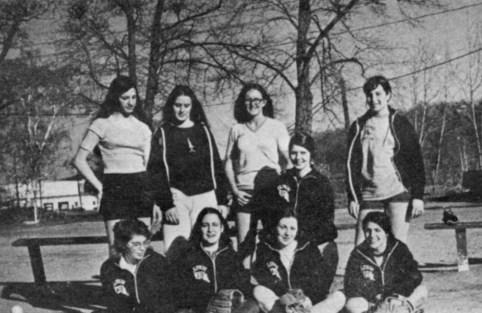 Softball team, 1974.