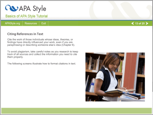 APA Style online tutorial: The Basics of APA Style®