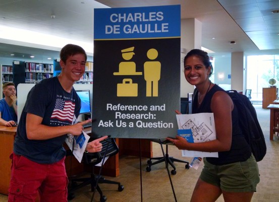 new students enjoying Passport to the Library 2016