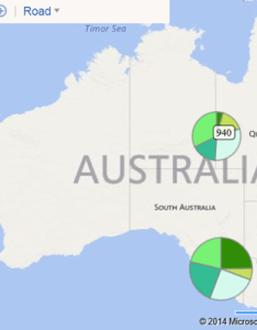 Screenshot hover over of  pie chart on the map also visualizing point based business intelligence data bing maps rh blogsng