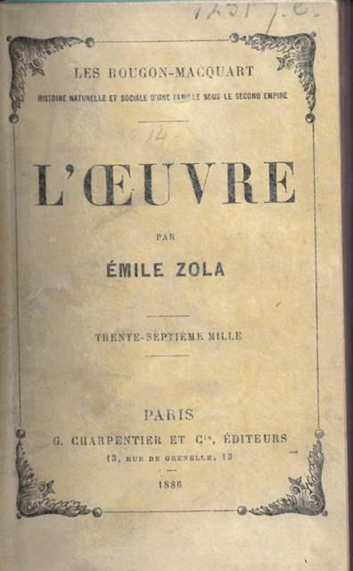 L'œuvre (émile Zola) : l'œuvre, (émile, zola), Ruining, Friendship:, Zola,, Cézanne, L'Œuvre, European, Studies