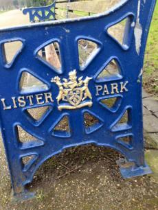 Lister Park sign.
