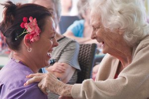 Dementia patient and carer