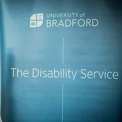 A banner for the University's Disability Service.