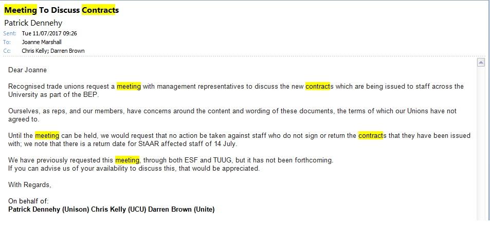 UNISON Bradford Branch Meeting Request(s)