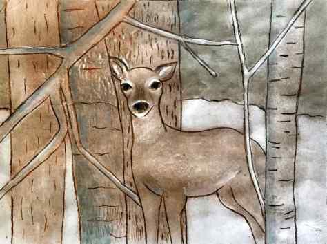 3 Deer mono