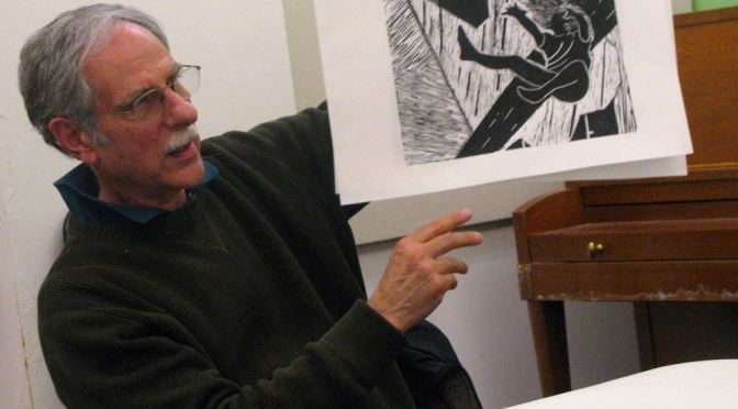 "MEET MEMBER DICK HANELIN:  ""WELL-GROUNDED"" PRINTMAKER"