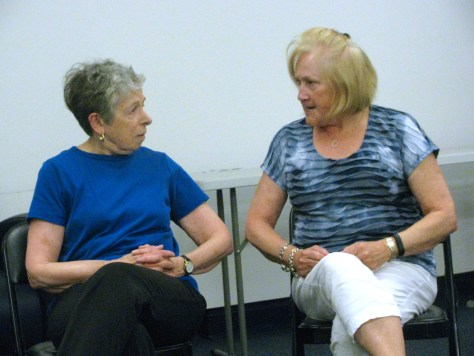 MALIGNED MOMS Snow White's Queen (Judy Blatt) and Cinderella's Stepmother (Sandy Clifford)