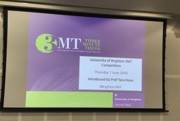 3MT introduced by Prof Tara Dean