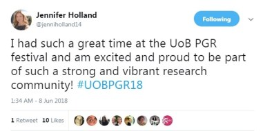 Jenni Holland tweet