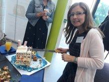 Jennifer Holland sharing her cruise ship cake