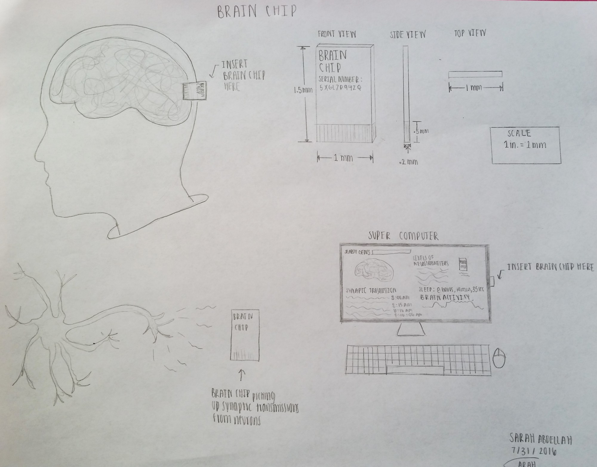 hight resolution of my new piece of technology is called a brain chip which has the ability to measure activity in the brain as well as remove genes that are thought to be