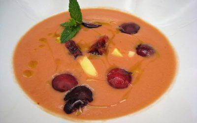 Gazpacho de cerezas