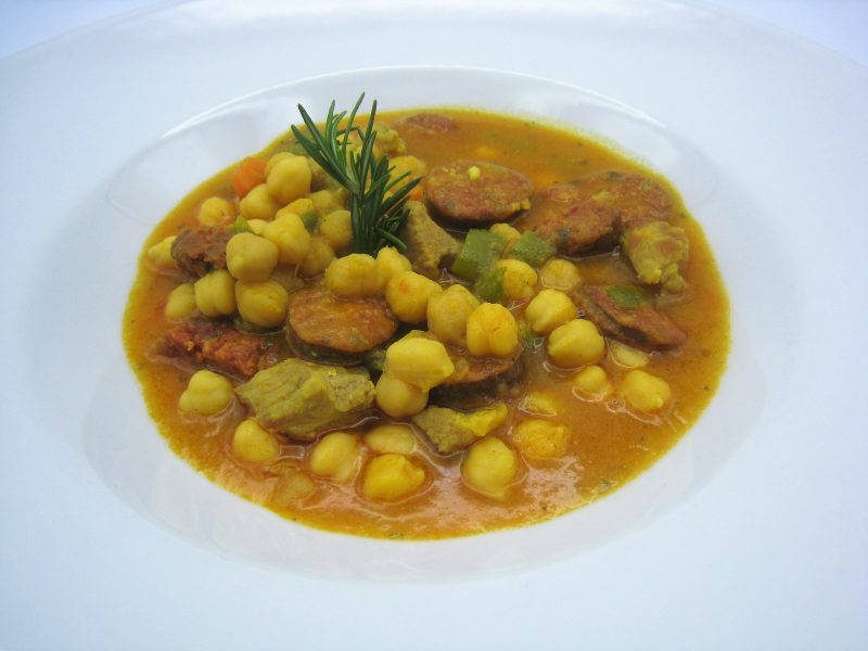 Potaje de Lomo y garbanzos