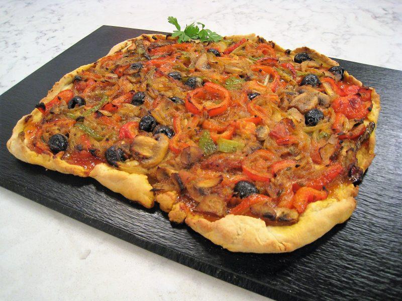 Torta vegetal crujiente