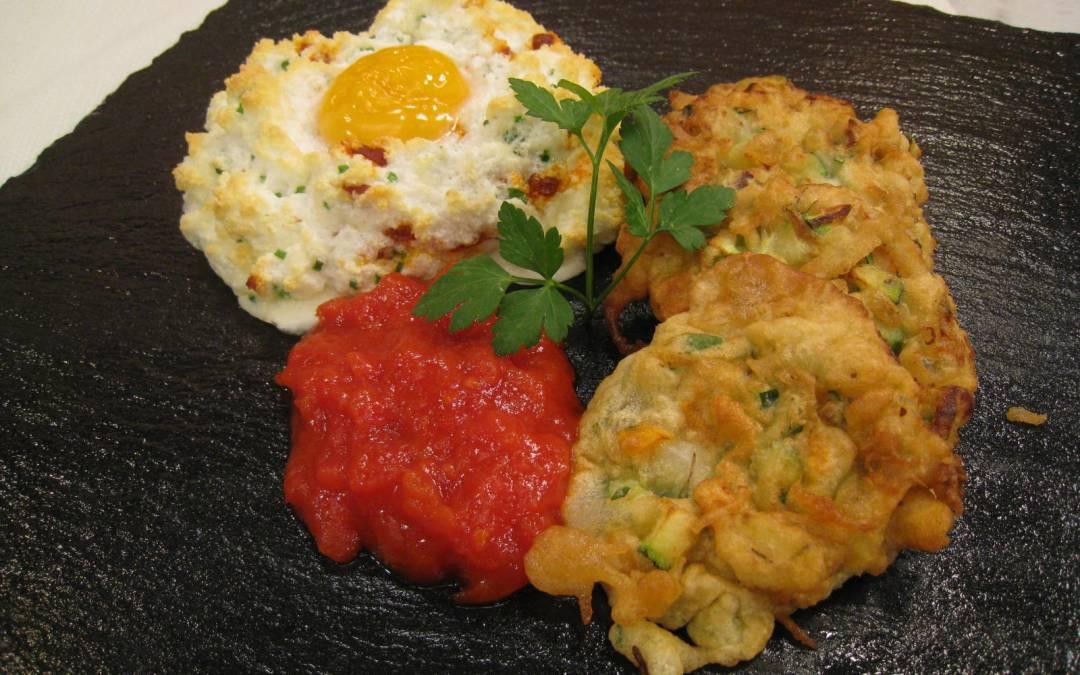 Tortitas de verduras con huevo