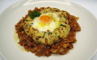 Nidos de patata y huevo