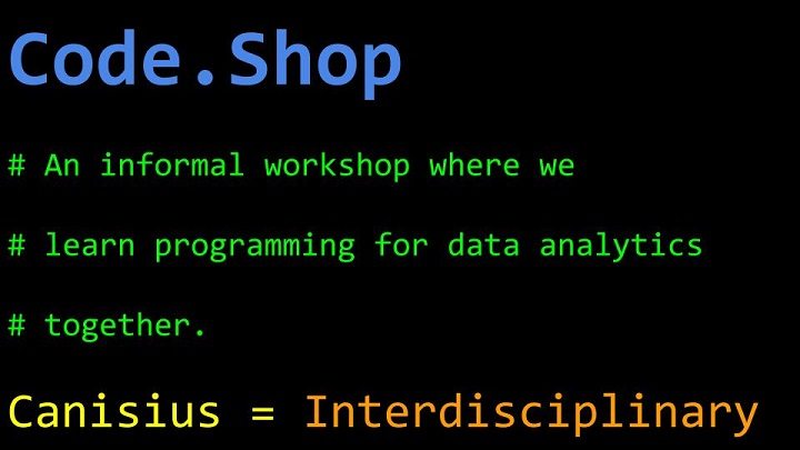 Programming?  Data Analytics?  Gather at the Code Shop!